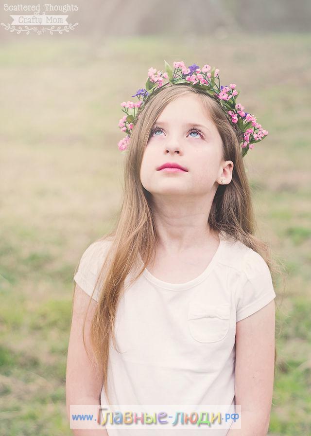 Венок на голову из цветов своими руками, венок на голову из искусственных цветов своими руками, венок для девочки из цветов своими руками (3)