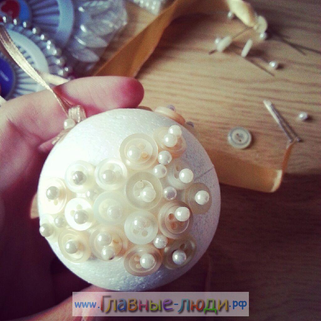 Как сделать оригинальный елочный шар