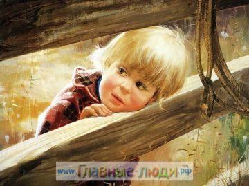 Дети на картинах художника Дональда Золана